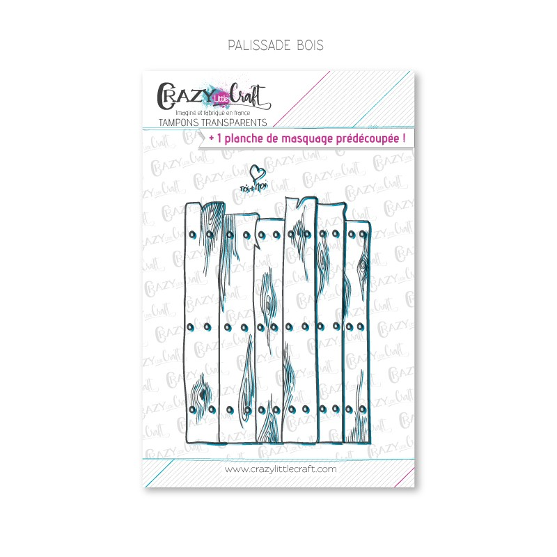 Palissade bois - Tampons transparents photopolymère pour scrapbooking - Crazy Little Craft
