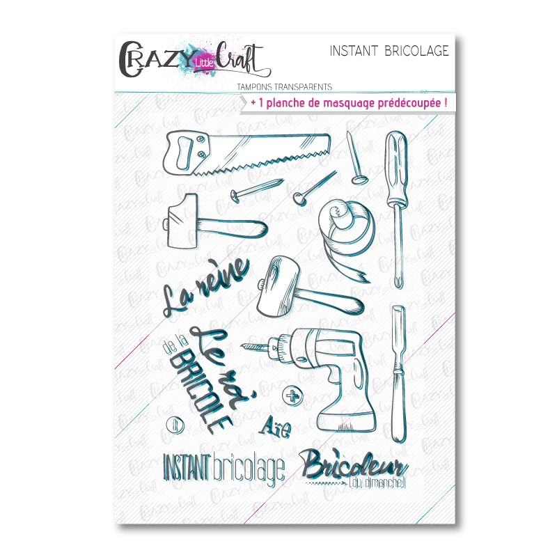 Instant bricolage - Tampons transparents photopolymère pour scrapbooking - Crazy Little Craft