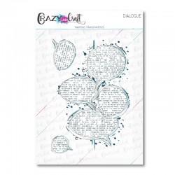 Dialogue - Tampons transparents photopolymère pour scrapbooking - Crazy Little Craft