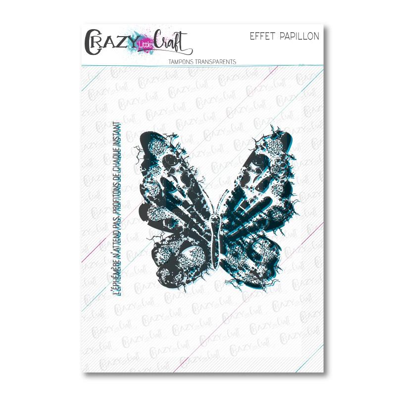 Effet papillon - Tampons transparents photopolymère pour scrapbooking - Crazy Little Craft