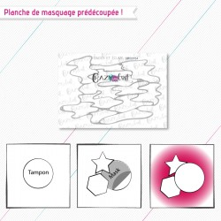 """Masque(s) en papier prédécoupé(s), correspondant à la planche de tampons """"Ondes et écume"""""""