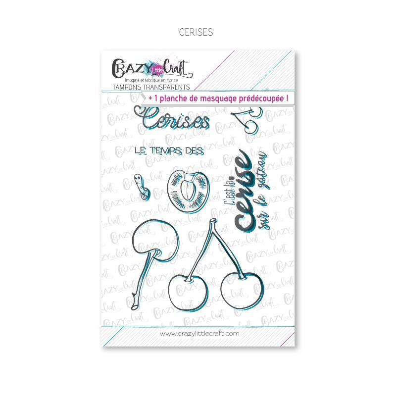 Cerises - Tampons transparents photopolymère pour scrapbooking - Crazy Little Craft