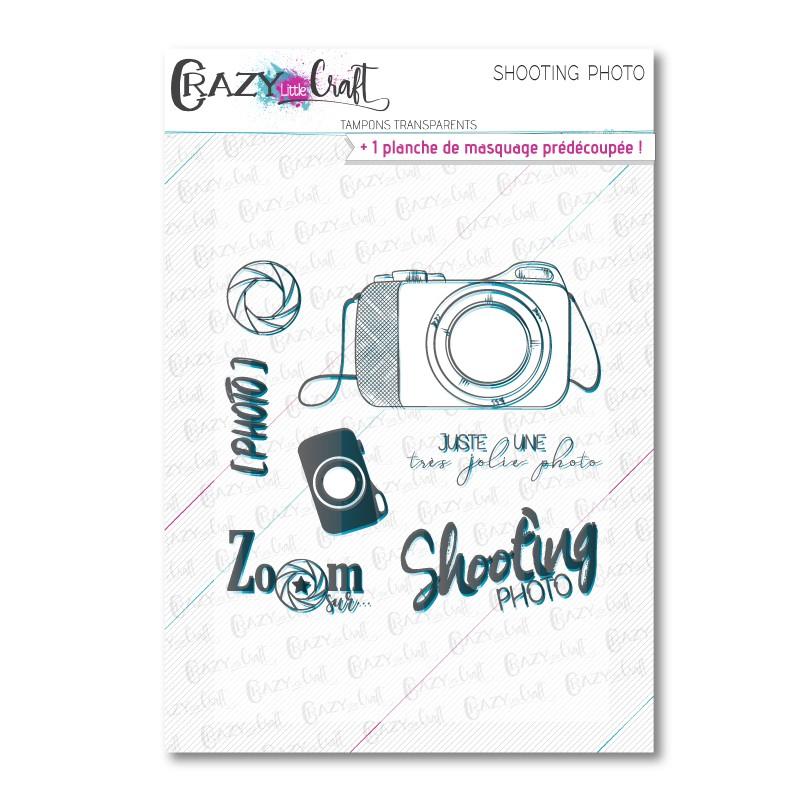 Shooting photo - Tampons transparents photopolymère pour scrapbooking - Crazy Little Craft