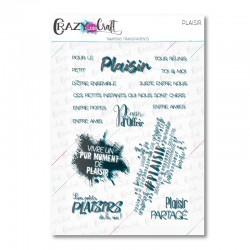 Plaisir - Tampons transparents photopolymère pour scrapbooking - Crazy Little Craft