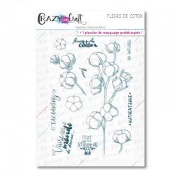 Fleurs de coton - Tampons transparents photopolymère pour scrapbooking - Crazy Little Craft