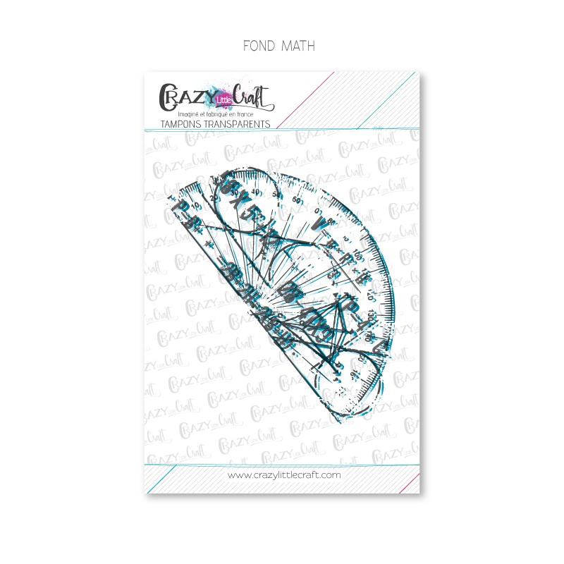 Fond Maths - Tampons transparents photopolymère pour scrapbooking - Crazy Little Craft