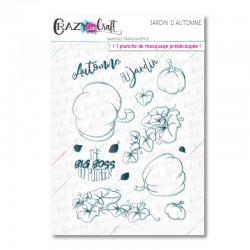 Jardin d'automne - Tampons transparents photopolymère pour scrapbooking - Crazy Little Craft