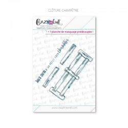 Clôture champêtre - Tampons transparents photopolymère pour scrapbooking - Crazy Little Craft