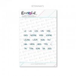 Déterminants - Tampons transparents photopolymère pour scrapbooking - Crazy Little Craft