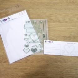 Zoom - Amour Virtuel - Planche de tampons transparents photopolymère - Crazy Little Craft
