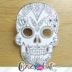 "Découpe par machine numérique- scrapbooking - Adaptée au tampon ""Calavera"" de Crazy Little Craft"