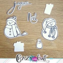 """Découpe par machine numérique- scrapbooking - Adaptées à la planche de tampons """"Magie de Noël"""" de Crazy Little Craft"""