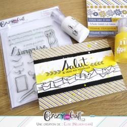 Frise d'enveloppes grâce à la planche de masquage Crazy Little Craft