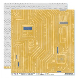 "Papier circuits imprimé et chevrons déstructuré, collection ""L'homme"" Crazy Little Craft"