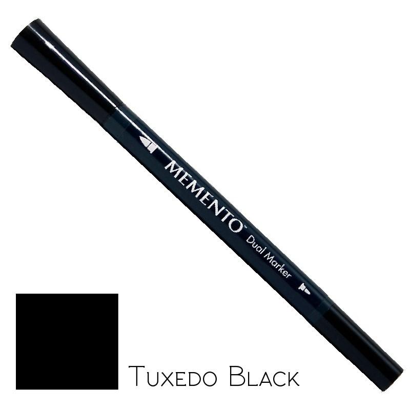 Marqueur double pointes Memento Tuxedo Black