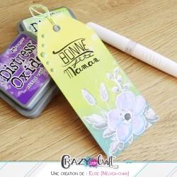 Marque-page pour la fête des mères avec les tampons Crazy Little Craft !