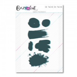 De tache en tache - Planche de tampons transparents photopolymères pour scrapbooking - Crazy Little Craft