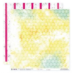 """Papier n°7 de la collection """"Été fruité"""" - Papier scrapbooking 30 x 30"""