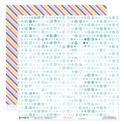 """Papier n°9 de la collection """"Été fruité"""" - Papier scrapbooking 30 x 30"""