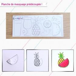Cocktail de douceur - Planche de masquage pour faciliter vos créations en scrapbooking - Crazy Little Craft