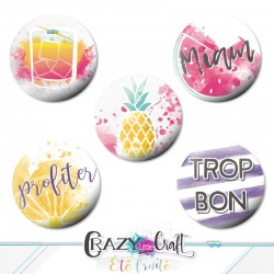 "Badges collection ""Été fruité"""