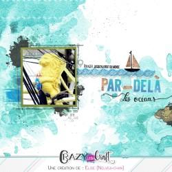 Utilisation de ce design pour le fond de cette page de scrapbooking, idéal pour le thème marin !
