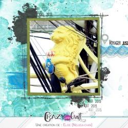 Détail créatif :Les taches sont parfaites pour encadrer une photo dans les créations de scrapbooking