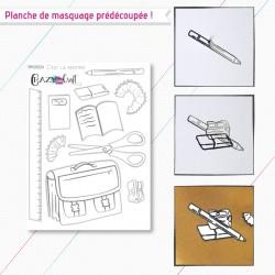 C'est la rentrée - Planche de masquage pour faciliter vos créations en scrapbooking - Crazy Little Craft