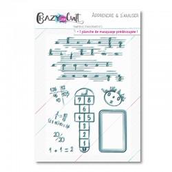 Apprendre & s'amuser - Planche de tampons transparents photopolymères pour scrapbooking - Crazy Little Craft
