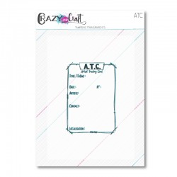 ATC - tampon transparents photopolymères pour scrapbooking - Crazy Little Craft