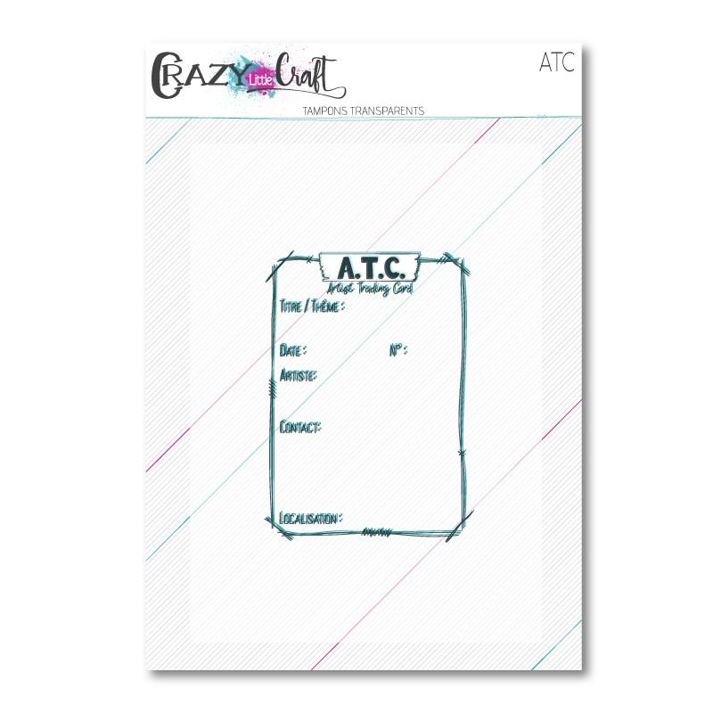 ATC - tampon transparents photopolymères pour scrapbooking - Crazy Little Craft