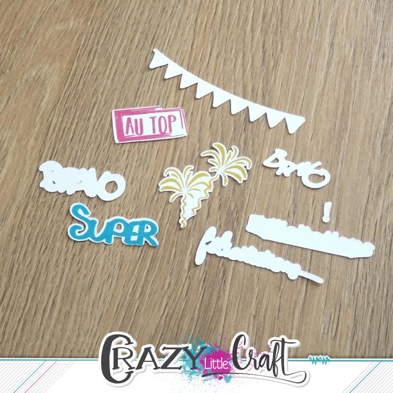 Félicitations - Fichier de découpes numériques - Crazy Little Craft