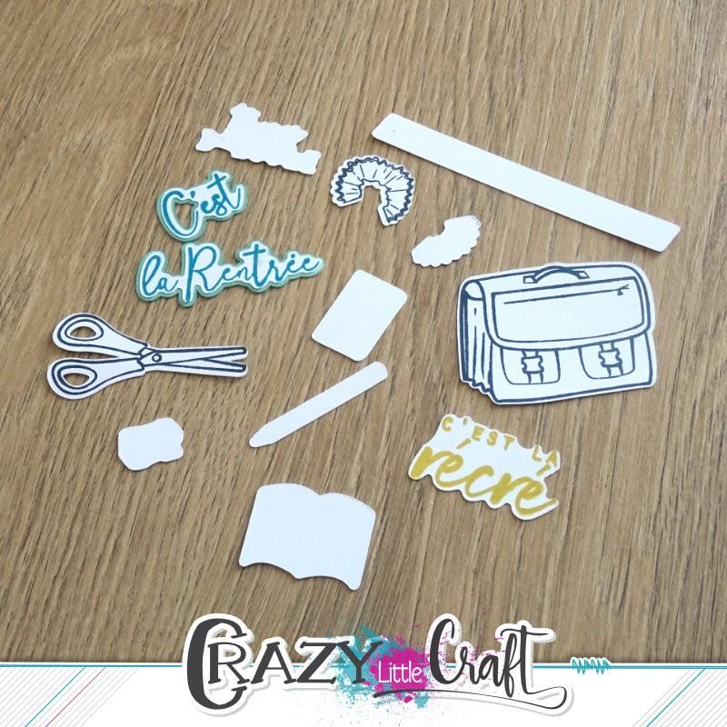 C'est la rentrée ! - Fichier de découpes numériques - Crazy Little Craft