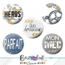"Badges collection ""L'homme"""