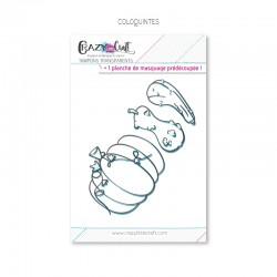 Coloquintes - Planche de tampons transparents photopolymères pour scrapbooking - Crazy Little Craft