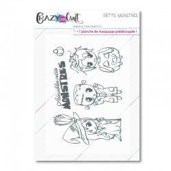 Petits monstres - Planche de tampons transparents photopolymères pour scrapbooking - Crazy Little Craft
