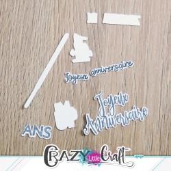 Anniversaire - Fichier de découpes numériques - Crazy Little Craft