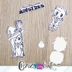 Petits monstres - Fichier de découpes numériques - Crazy Little Craft