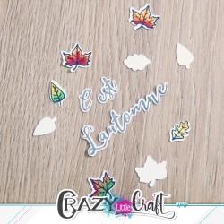 C'est l'automne - Fichier de découpes numériques - Crazy Little Craft