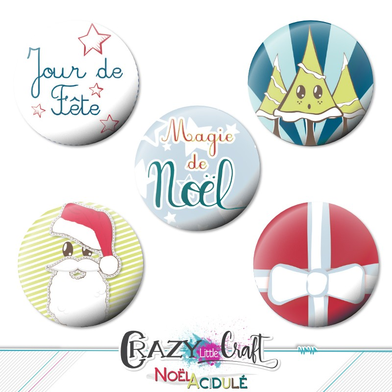 "Badges collection ""Noël acidulé"""