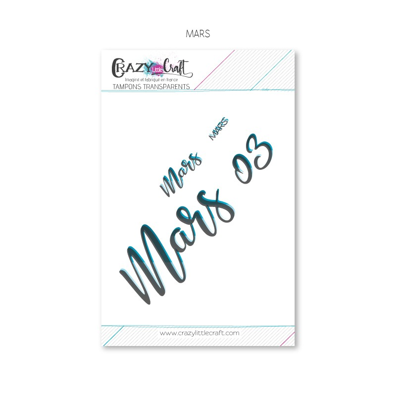 Mars - Planche de tampons transparents photopolymère pour scrapbooking - Crazy Little Craft