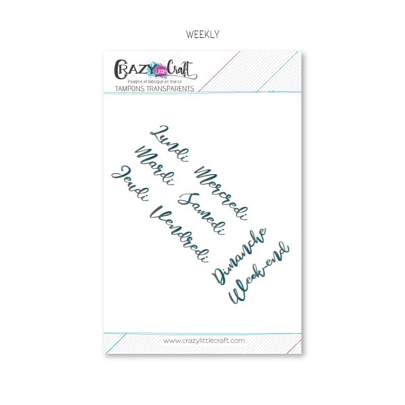 Weekly - Planche de tampons transparents photopolymère pour scrapbooking - Crazy Little Craft