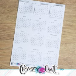 Calendrier 2019 - Stickers en papier - Crazy Little Craft