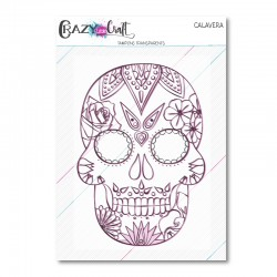 Calavera - Tampon transparent photopolymère - Crazy Little Craft