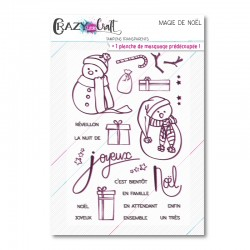 Magie de Noël - Planche de tampons scrapbooking - Crazy Little Craft