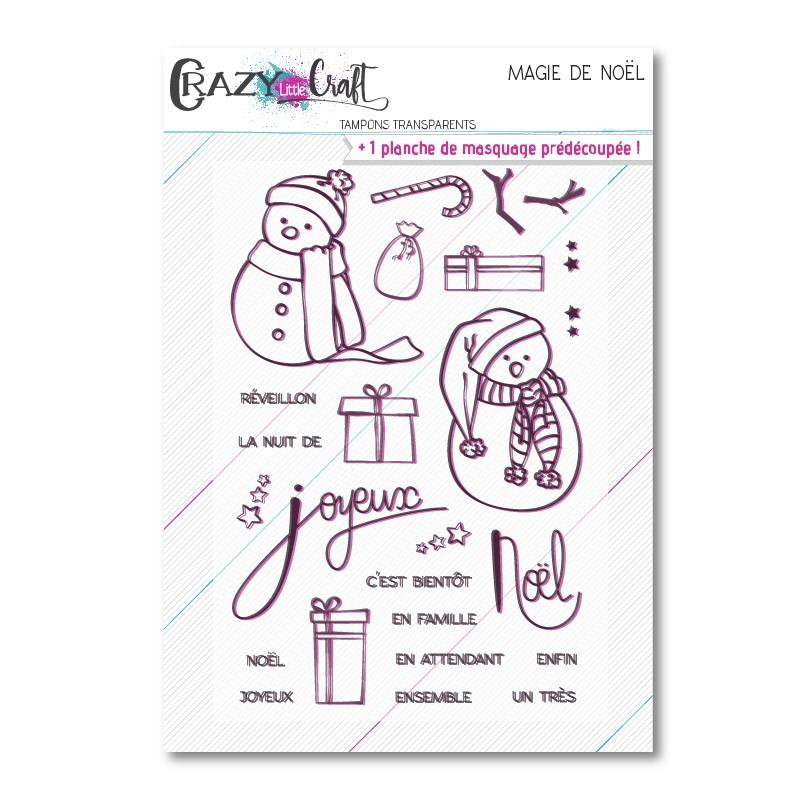Magie de Noël - Planche de tampons scrapbooking - Crazy Little Craft