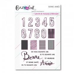 Bonne année - Planche de tampons transparents photopolymère - Crazy Little Craft
