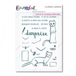 Courrier surprise - Planche de tampons transparents photopolymère pour scrapbooking - Crazy Little Craft