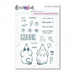 La petite souris - Planche de tampons transparents photopolymère pour scrapbooking - Crazy Little Craft