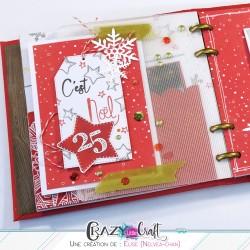 Papier utilisé pour la déco d'un album - Album de Noël par Nelvea-Chan